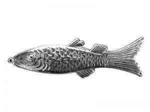 Fisch aus Pappe silber