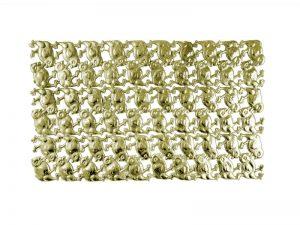 3D Tiere aus Pappe Kücken gold