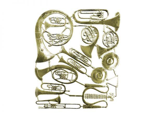 Dresdner Pappen Instrumente gold