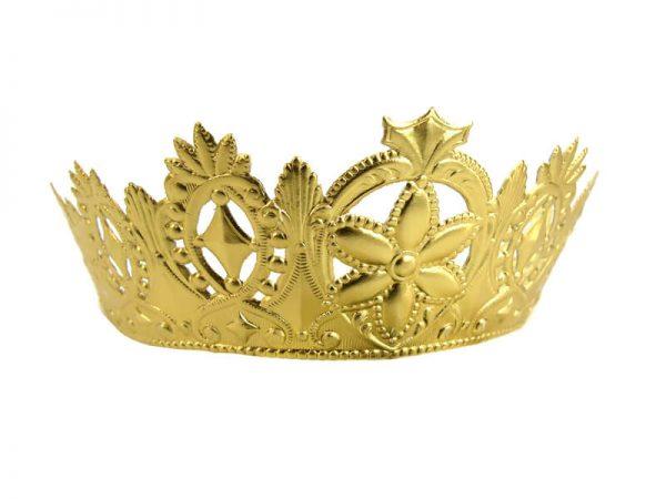Krone aus Pappe gold