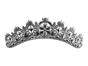 Krone aus Pappe Silber