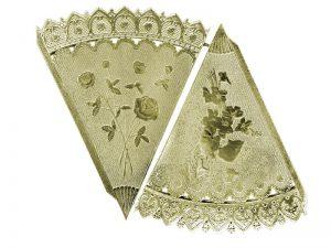 Dresdner Pappen Spitztüte Bogen Gold