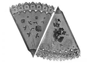 Dresdner Pappen Spitztüte Bogen Silber