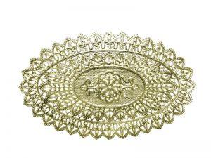 Spitzendeckchen oval gold