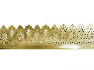 Vintagebordüre aus Pappe gold