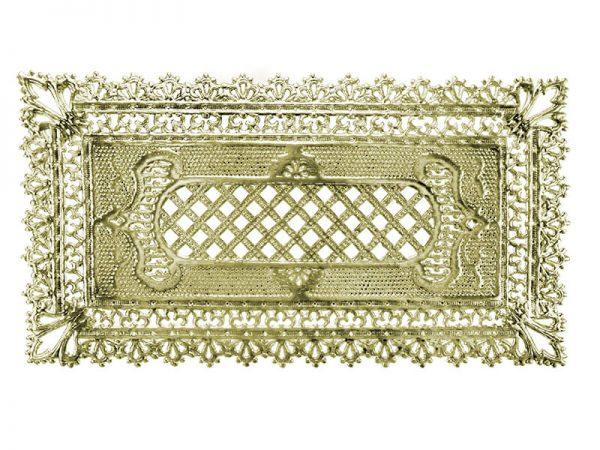 Dresdner Pappen Spitzendecken in Gold
