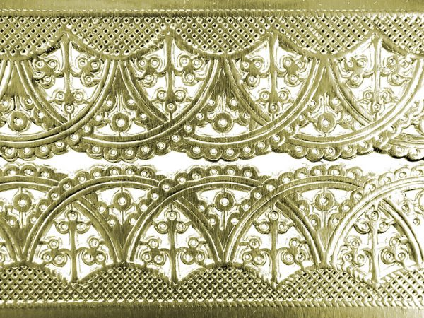 Borte aus Papier silber