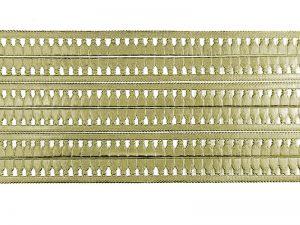 Borte aus Pappe silber mit Troddeln