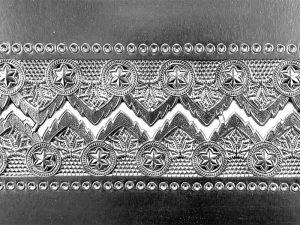 Papierbordüre silber Dresdner Pappen