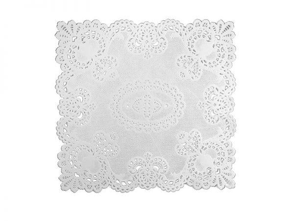 Spitzendeckchen aus Papier weiß