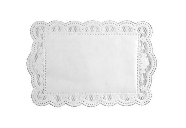 Weißes Spitzendeckechen aus Papier