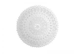 Spitzendecke weiß rund
