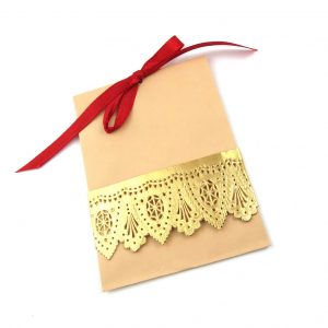 Einladungskarte Papierbordüre