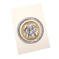 Ornamente Rahmen rund aus Pappe gold