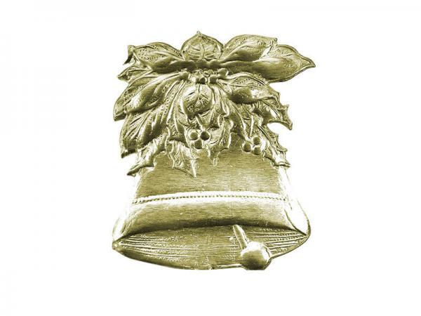 Traditionelle Weihnachtsdeko Glocke gold