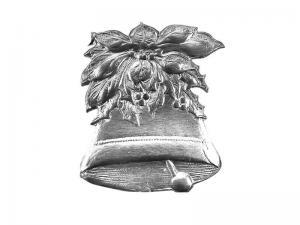 Traditionelle Weihnachtsdeko Glocke silber