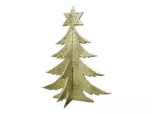 3D Weihnachtsbaum Pappe gold