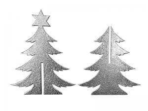 3D Weihnachtsbaum aus Pappe silber