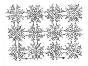 Ornament aus Pappe silber