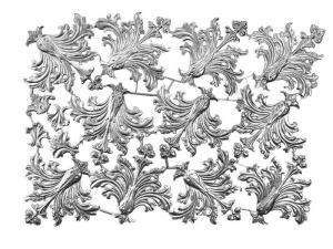 historische rahmen Ornamente silber