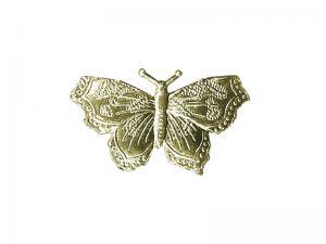 Schmetterling aus Pappe gold