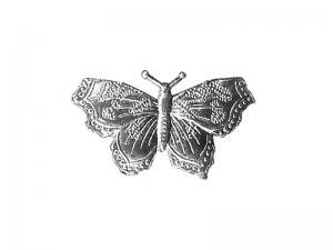 Schmetterling aus Pappe silber