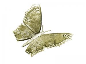3D Tiere Pappe Schmetterling gold