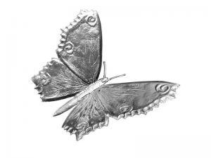 3D Tiere Pappe Schmetterling silber