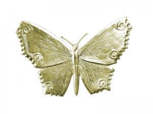 3D Tiere aus Pappe Schmetterling gold