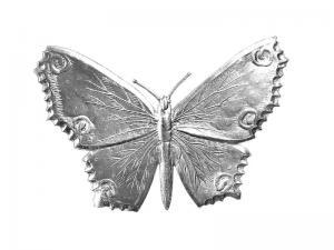 3D Tiere aus Pappe Schmetterling silber