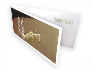 Grußkarte aus Pappe