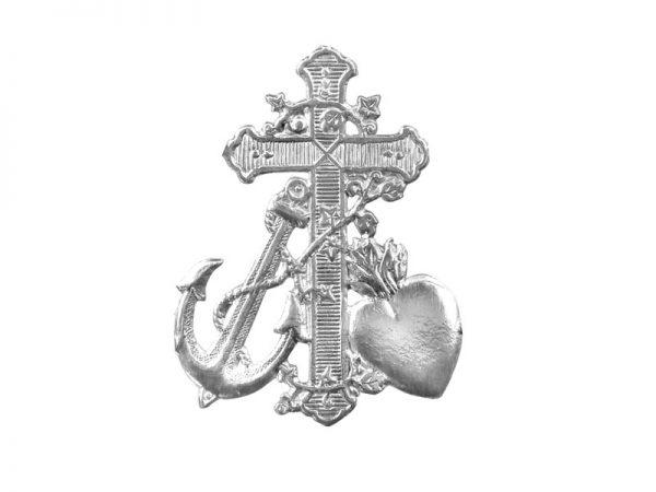 Kreuz, Herz und Anker Detail