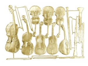 Musikinstrumente (Holz) gold