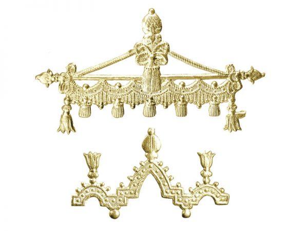 Ornament-Borte Detail gold