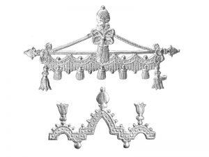Ornament-Borte Detail silber