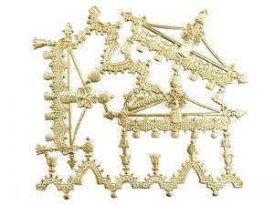 Ornament-Borte gold
