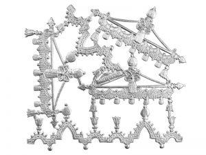 Ornament-Borte silber