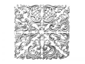 Florales Ornament (groß) silber