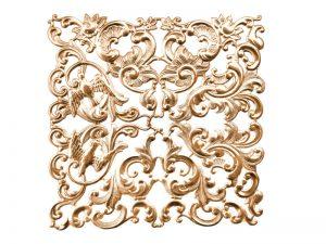 Florales Ornament (klein) altgold