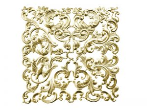 Florales Ornament (klein) gold