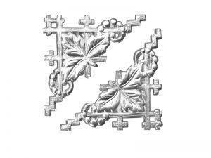 Zierecke Detail silber