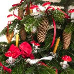 Nostalgischer Wattepilz Fliegenpilz Dresdner Pappen Weihnachtsschmuck