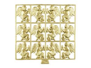 Dresdner Pappen betender Engel Bogen gold