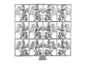 Dresdner Pappen betender Engel Bogen silber