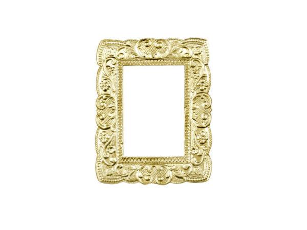 Dresdner Pappen Ornamentrahmen klein gold