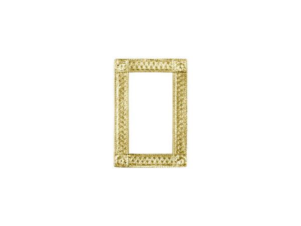 Dresdner Pappen Ornamentrahmen mini gold