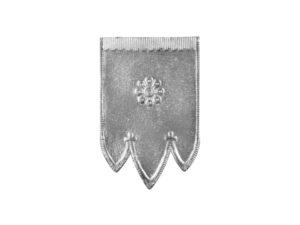Dresdner Pappen Osterfahnen klein Detail silber