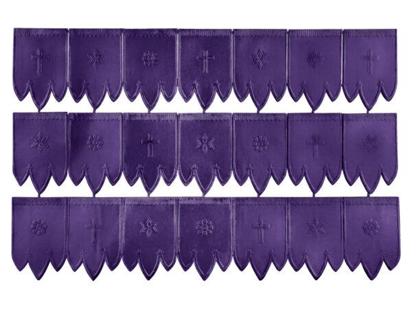 Dresdner Pappen Osterfahnen klein Bogen purpur
