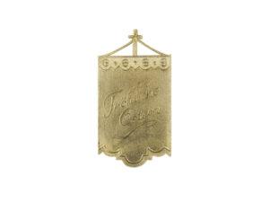 Dresdner Pappen Osterfahnen mittel Detail gold