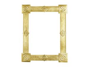 Dresdner Pappen Rahmen eckig gross gold